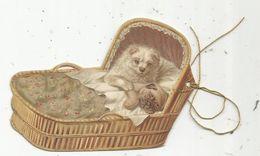 étiquette , Découpis , Chiens , Chiots Dans Couffin Osier - Animals