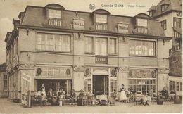 COXYDE-BAINS : Hôtel Trianon - CPA PEU COURANTE Cachet De La Poste 1928 - Koksijde