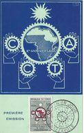 FDC - CONGO BRAZZAVILLE - CARTE 1er JOUR - 10ème ANNIVERSAIRE CCTA - 21/5/1960 - FDC