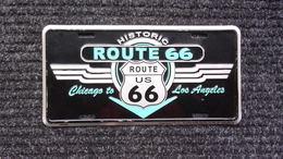 Plaque  En Tole  Publicite   ROUTE  66  Usa  Format  30x15 - Advertising (Porcelain) Signs