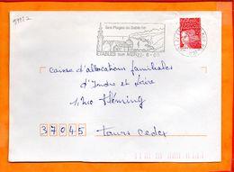 COTE D'ARMOR, Etaples Sur Mer, Flamme SCOTEM N° 5992a - Postmark Collection (Covers)