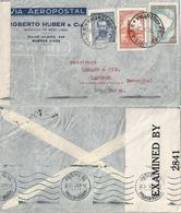 "Airmail Zensur Brief  ""Roberto Huber, Buenos Aires"" - Lisboa - Langnau             1942 - Argentine"