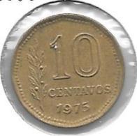 *argentina 10 Centavos 1975 Km 66    Unc - Argentina