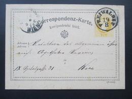 Österreich 1875 Ganzsache Stempel Freiwaldau Nach Wien Gelaufen! Böhm. - 1850-1918 Imperium