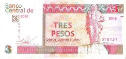Cuba - Foreign Exchange Note - Pick FX New - 3 Pesos Convertibles 2016 - F+ - Cuba