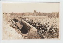 GUTTENBURG - IOWA - USA - CARTE PHOTO - TRAIN WRECK - ACCIDENT FERROVIAIRE - Etats-Unis