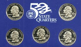 USA UNITED STATES 25 CENTS -1/4$ X 5 STATES FRONT WASHINGTON BACK 2003 S PROOF READ DESCRIPTION CAREFULLY !!! - Emissioni Federali