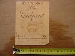 Etiquette RHUM 6 Ans D'age CLEMENT Martinique - Rhum