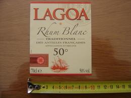 Etiquette RHUM Blanc Des Antilles Francaises LAGOA - Rhum