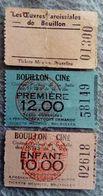 3 Places De Cinéma Bouillon Ciné Bruxelles - Tickets D'entrée