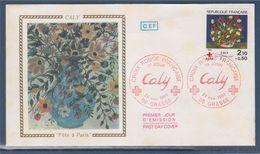 = Croix Rouge Française Enveloppe 1er Jour 06 Grasse 24.11.84 N°2345 La Corbeille Rose, D'après Oeuvre De Caly - 1980-1989