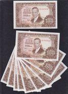 EDIFIL 464c.  100 PTAS 7 DE ABRIL DE 1953.  LOTE DE 10 BILLETES CORRELATIVOS - 100 Pesetas