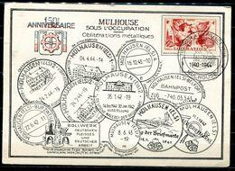 "Frankreich,France 1948 Heimatbeleg/Card  Muhlhouse,Els. Mit SST""Mülhouse Sous L'Occupation""1 Beleg - Alsace-Lorraine"