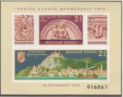 UNGARN, Block 115 B, Postfrisch **, Europäisches Denkmalschutzjahr - Tag Der Briefmarke 1975 - Blocchi & Foglietti