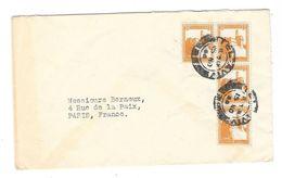 PALESTINE  Enveloppe TEL AVIV à PARIS 1946 (?) Ruben Kahana à Berneux Parfumeur - Palestine