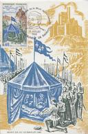Carte  Maximum   FRANCE  6éme  Centenaire  Mort  De  DU  GUESCLIN    CHATEAUNEUF  DE  RANDON   1980 - Postmark Collection (Covers)