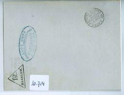 HANDGESCHREVEN BRIEF Uit 1856 Van BRUXELLES Naar Driehoekstempel 1 1/2 C. HAARLEM   (10.714) - 1851-1857 Medaillen (6/8)