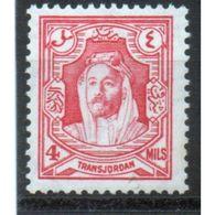 Jordan Emir Abdulah 4 Mils Definitive Stamp In Unmounted Mint Condition. - Jordan