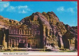 PETRA VIEW OF THE LAW COURT JORDAN POSTCARD UNUSED - Jordan
