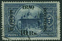 IRAQ 1918 10r On 100pi Indigo SG14 Sound Used - Iraq