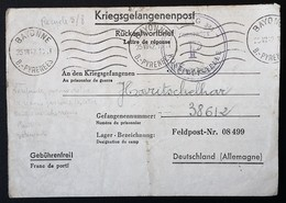 CL Prisonnier De Guerre Au STALAG 325 RAWA RUSKA Ukraine FELDPOST Nr 08 499 Camp Disciplinaire Juil 1942 - WW II