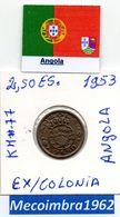 *AN.42 - 2$50 EscudoS 1953 Angola Portuguesa - Colonia - Angola