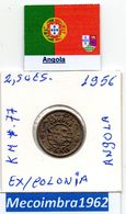 *AN.43 - 2$50 EscudoS 1956 Angola Portuguesa - Colonia - Angola