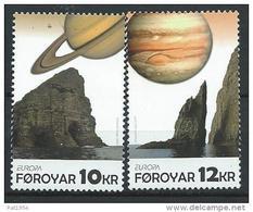 Féroé 2009 N°671/672 Neufs Europa Astronomie - Färöer Inseln