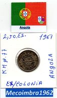 *AN.44 - 2$50 EscudoS 1967Angola Portuguesa - Colonia - Angola