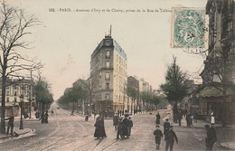 PARIS  13ème  - Avenues D' Ivry Et De Choisy , Prise De La Rue De Tolbiac - Arrondissement: 13
