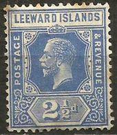 Leeward Islands - 1927 King George V 2.5d MH *  SG 67  Sc 70 - Leeward  Islands