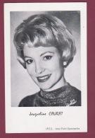 020418 - AUTOGRAPHE JACQUELINE CAURAT Présentatrice Animatrice Télé Journaliste - Famous Ladies