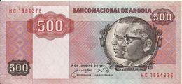 ANGOLA - 500 KWANZAS - 1984 - HC 1964376 - AUNC - NICE PRICE - Angola