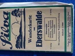 Wanderkarte Eberswalde - Angermünde - Wandlitz - 1930-iger Jahre - Mit Hinweisen Zur Bahnfahrt Ab Berlin - Landkarten