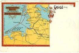 AK Litho Helgoland Nordseebäder Etc. Old Postcard  (2027 - Alemania