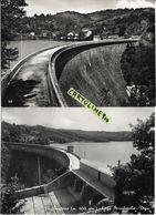 Lazio-rieti-amatrice Lago Scandarello Veduta Diga (2 Cartoline) - Autres Villes