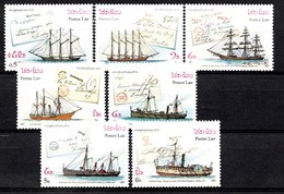 Laos 1987  Mi.nr.: 995-1001 Schiffe-Briefmarkenausstellung  Neuf Sans Charniere / MNH / Postfris - Laos