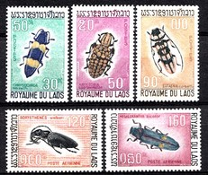 Laos 1968  Mi.nr.: 235-239 Einheimische Holzschädlinge: Käfer  Neuf Sans Charniere / MNH / Postfris - Laos
