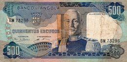Belhete 500 Escudos 1972 Angola Portugues Colonia Banco De Angola - Angola