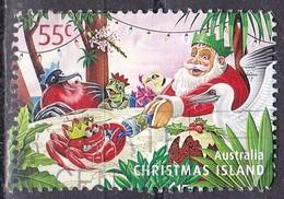 Christmas Island, 2011 - 55c Giving Cracker To Crab - Nr.497 Usato° - Christmas Island