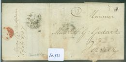 HANDGESCHREVEN BRIEF Uit 1787 Gelopen Van POSTHOORN Stempel AMSTERDAM Naar VERVIERS + ROOD LAKZEGEL (10.721) - Nederland