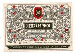 Etiquette Apéritif Henri Pernot Bordeaux - Etiquettes