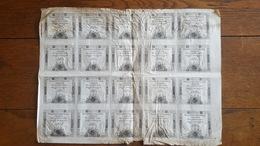FEUILLE COMPLETE DE 20 ASSIGNATS 15 SOLS 4 JANVIER 1792 AN 4 REVOLUTION FRANCAISE DOMAINES NATIONAUX - Assignats & Mandats Territoriaux