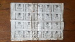 FEUILLE COMPLETE DE 20 ASSIGNATS 10 SOUS 4 JANVIER 1792 AN 4 REVOLUTION FRANCAISE DOMAINES NATIONAUX - Assignats & Mandats Territoriaux