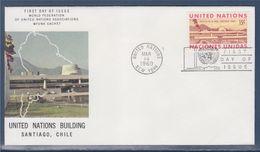 = Edifice Des Nations-Unies à Santiago Du Chili New-York 14.03.69 N°189 Corps Du Bâtiment - FDC