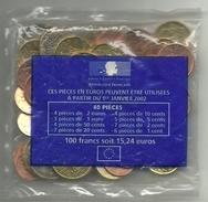 FRANCIA LOTE DE EUROS SIN CIRCULAR (M.C.5.17) - Munten & Bankbiljetten