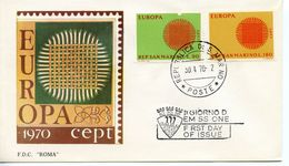 SAN MARINO -  1970 EUROPA STAMPS   FDC4102 - FDC