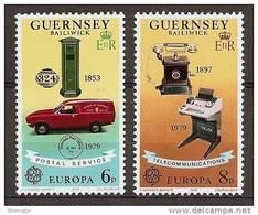 GUERNSEY 1979 - POSTAL HISTORY: Europa Cept - 2v Mi 189-90 MNH ** D355 - Guernsey