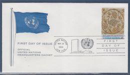 = L'Art Aux Nations Unies New-York 21.11.69 N°195 Détails D'une Mosaïque Tunisienne Découverte à Haïda - FDC