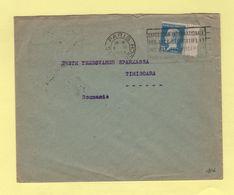 Type Pasteur - 75c Destination Roumanie - 1925 - 1877-1920: Période Semi Moderne